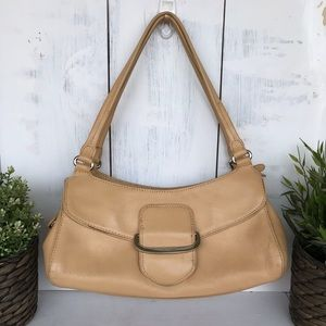 Cole Haan Vintage tan leather satchel handbag